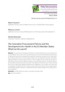 The Innovation Procurement Policies and the