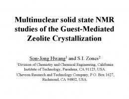 The Inorganic Chemistry of Guest-Mediated Zeolite Crystallization ...