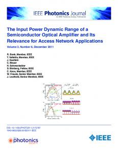 The Input Power Dynamic Range of a Semiconductor ... - IEEE Xplore