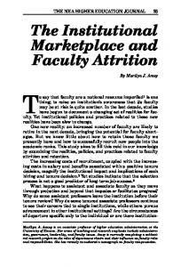 The Institutional Marketplace and Faculty Attrition - NEA