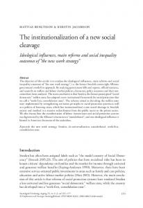 The institutionalization of a new social cleavage