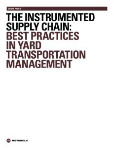 the instrumented supply chain: best practices in yard transportation ...