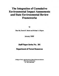 The Integration of Cumulative Environmental ... - Semantic Scholar