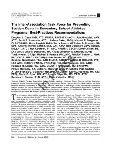 The Inter-Association Task Force for Preventing Sudden Death in ...