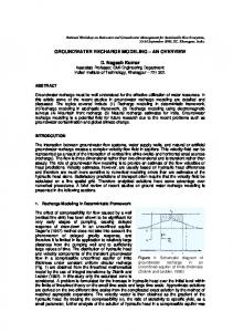 The interaction between groundwater flow systems