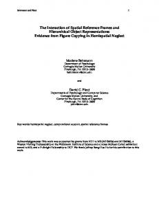 The Interaction of Spatial Reference Frames and ... - CiteSeerX