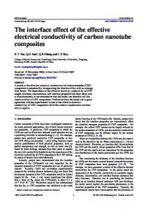 The interface effect of the effective electrical conductivity of carbon ...