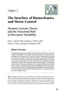 The Interface of Biomechanics and Motor Control - Paul Glazier