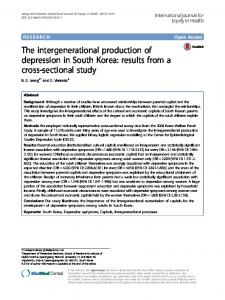The intergenerational production of depression in South Korea - Core