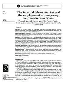 The internal labour market and the employment of ... - Semantic Scholar