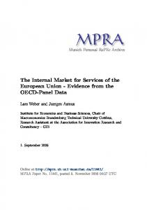 The Internal Market for Services of the European Union - Evidence