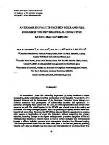 the international crown fire modelling experiment