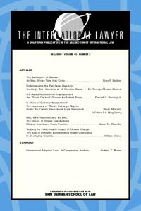 the international lawyer - SSRN papers