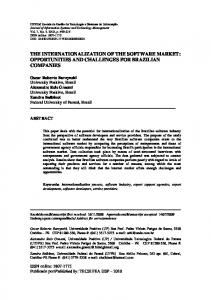 the internationalization of the software market - SciELO