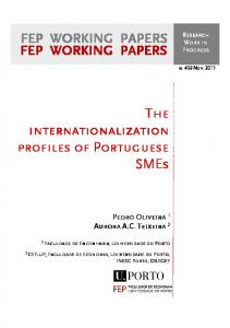 The internationalization profiles of Portuguese SMEs FEP WORKING ...
