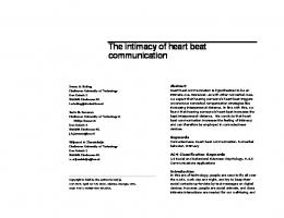 The intimacy of heart beat communication