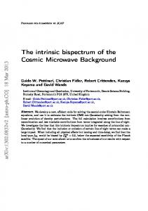 The intrinsic bispectrum of the Cosmic Microwave Background - arXiv