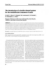The introduction of a double-channel system for the intrafollicular ...