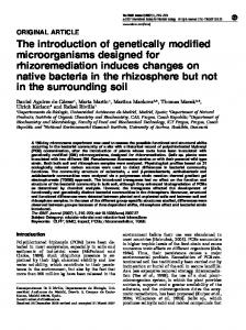 The introduction of genetically modified microorganisms ... - CSIC Digital