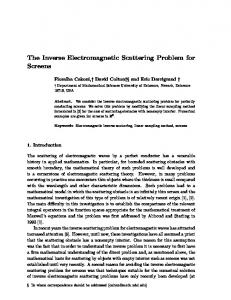 The Inverse Electromagnetic Scattering Problem ... - Semantic Scholar