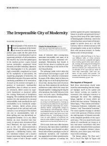The Irrepressible City of Modernity - Economic and Political Weekly