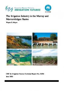 The Irrigation Industry in the Murray and ... - Land and Water
