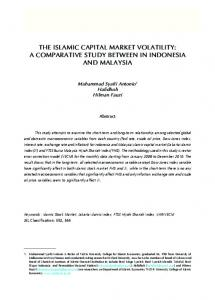 the islamic capital market volatility: a comparative study between in ...