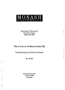 The J-Curve: Evidence from Fiji - Core