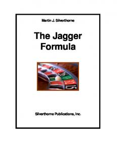 The Jagger formula - Gamblers' Bookcase