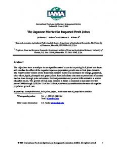 The Japanese Market for Imported Fruit Juices - AgEcon Search