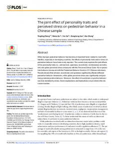 The joint effect of personality traits and perceived