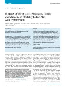 The Joint Effects of Cardiorespiratory Fitness and ... - Semantic Scholar