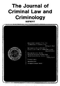 The Journal of Criminal Law and Criminology - SSRN papers