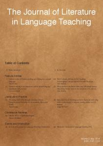 The Journal of Literature in Language Teaching - MailChimp