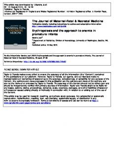The Journal of Maternal-Fetal & Neonatal Medicine