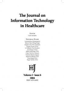 The Journal on Information Technology in Healthcare