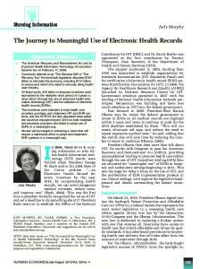 The Journey to Meaningful Use of Electronic Health ...