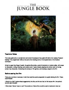 The Jungle Book study guide - Film Education