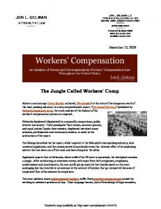 The Jungle Called Workers' Comp - SSRN papers