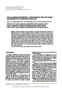 The k-Language Classification, a Proposed New Theory for Image ...