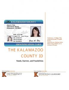 the kalamazoo county id - Kalamazoo College