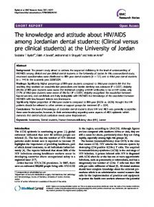 The knowledge and attitude about HIV/AIDS among ... - BioMedSearch