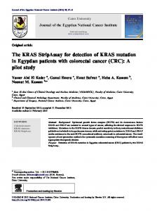 The KRAS StripAssay for detection of KRAS mutation in Egyptian ...