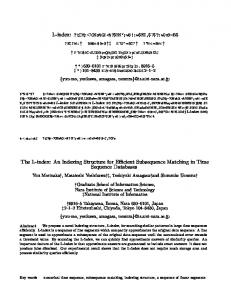 The L-index: An Indexing Structure for Efficient ... - CiteSeerX