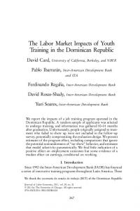 The Labor Market Impacts of Youth Training in the ... - David Card