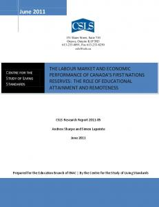 The labour market and economic performance of - the Centre for the ...