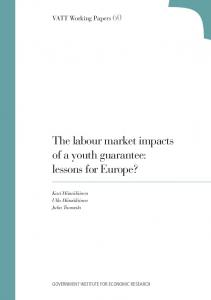 The labour market impacts of a youth guarantee - Valtion taloudellinen ...