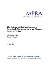 The Labour Market Implications of Large-Scale