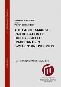 the labour-market participation of highly skilled immigrants in sweden ...