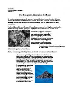 The Langmuir Adsorption Isotherm